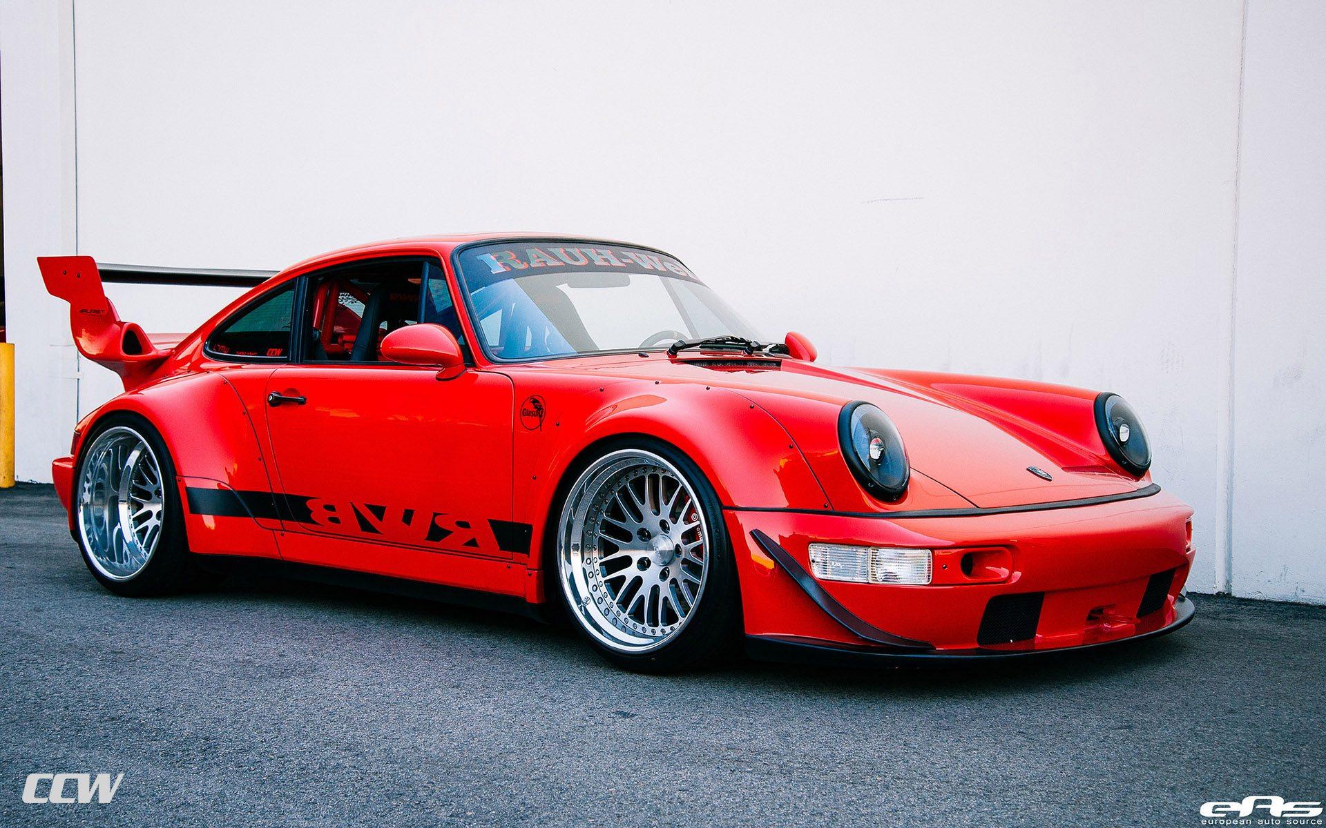 Albania Wallpaper Hd Red Rwb Porsche 964 Turbo Ccw Classic Wheels