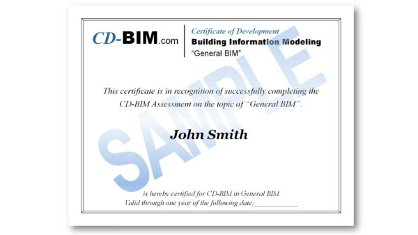 CD-BIM Part I Certification On-Demand Training and Exam \u2013 CD-BIM