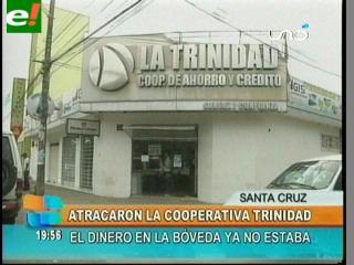 Delincuentes armados atracan sucursal de la cooperativa La Trinidad