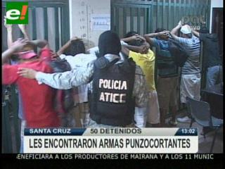Policía detiene a 46 supuestos pandilleros en la Pampa de la Isla