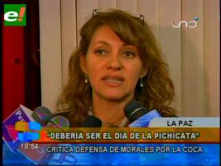 Para la diputada Reyes, el 12 de marzo debería ser declarado día de la pichicata