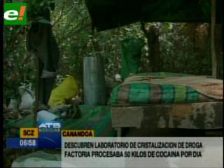 Intervienen laboratorio de cristalización de cocaína en Canandoa
