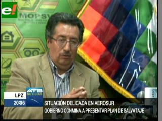 Gobierno conmina a Aerosur transparentar situación y operaciones financieras