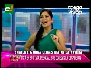 Angélica Mérida se despide de  La Revista