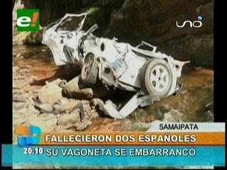 Samaipata: Trágico accidente deja el saldo de dos muertos