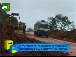 Tres personas mueren en accidente en la carretera a Vallegrande