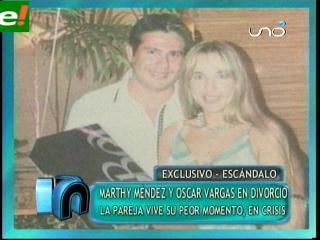 Confirmado: Marthy Mendez y Oscar Vargas se divorcian
