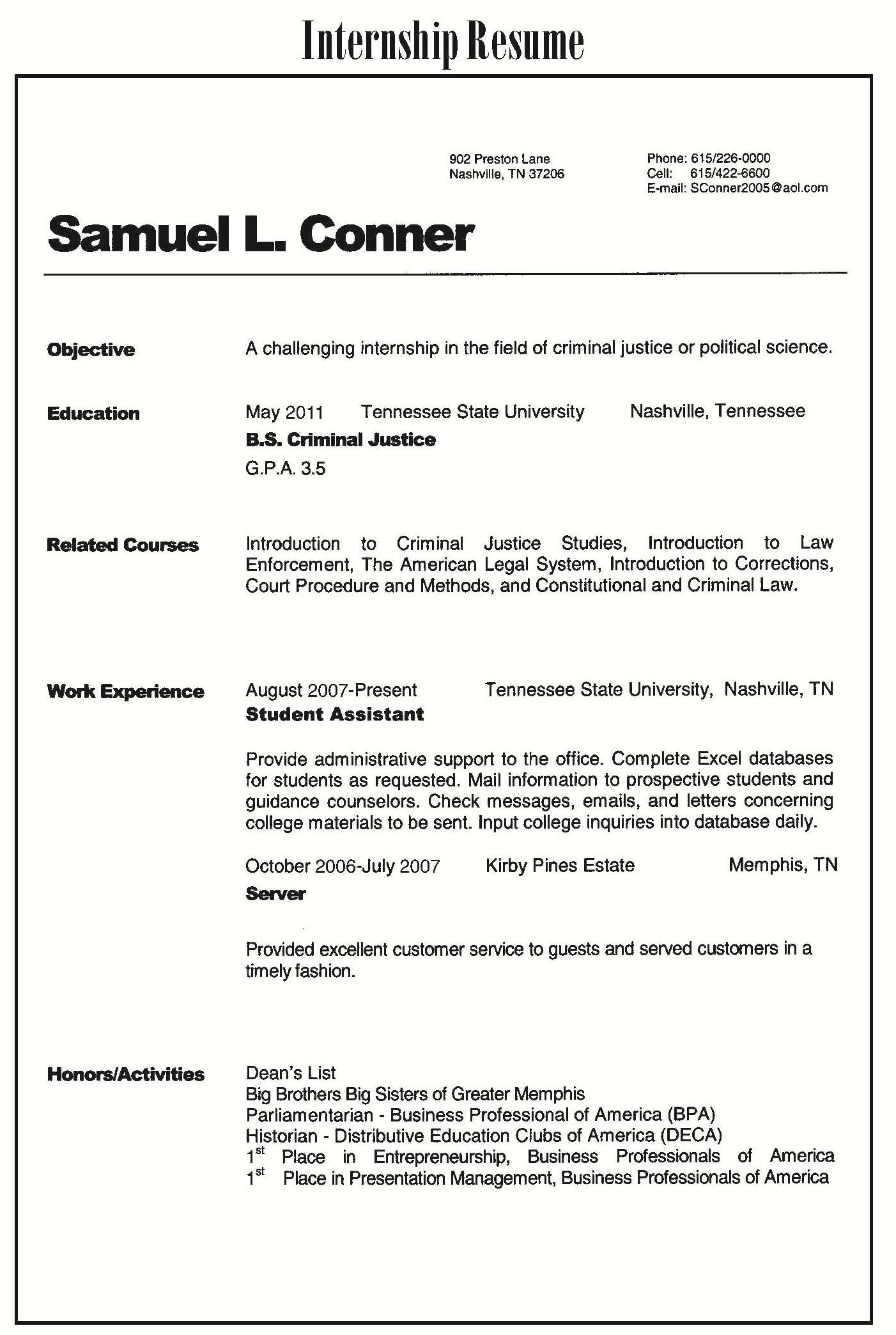 High School Student Sample Cover Letter Career Faqs Resume Samples