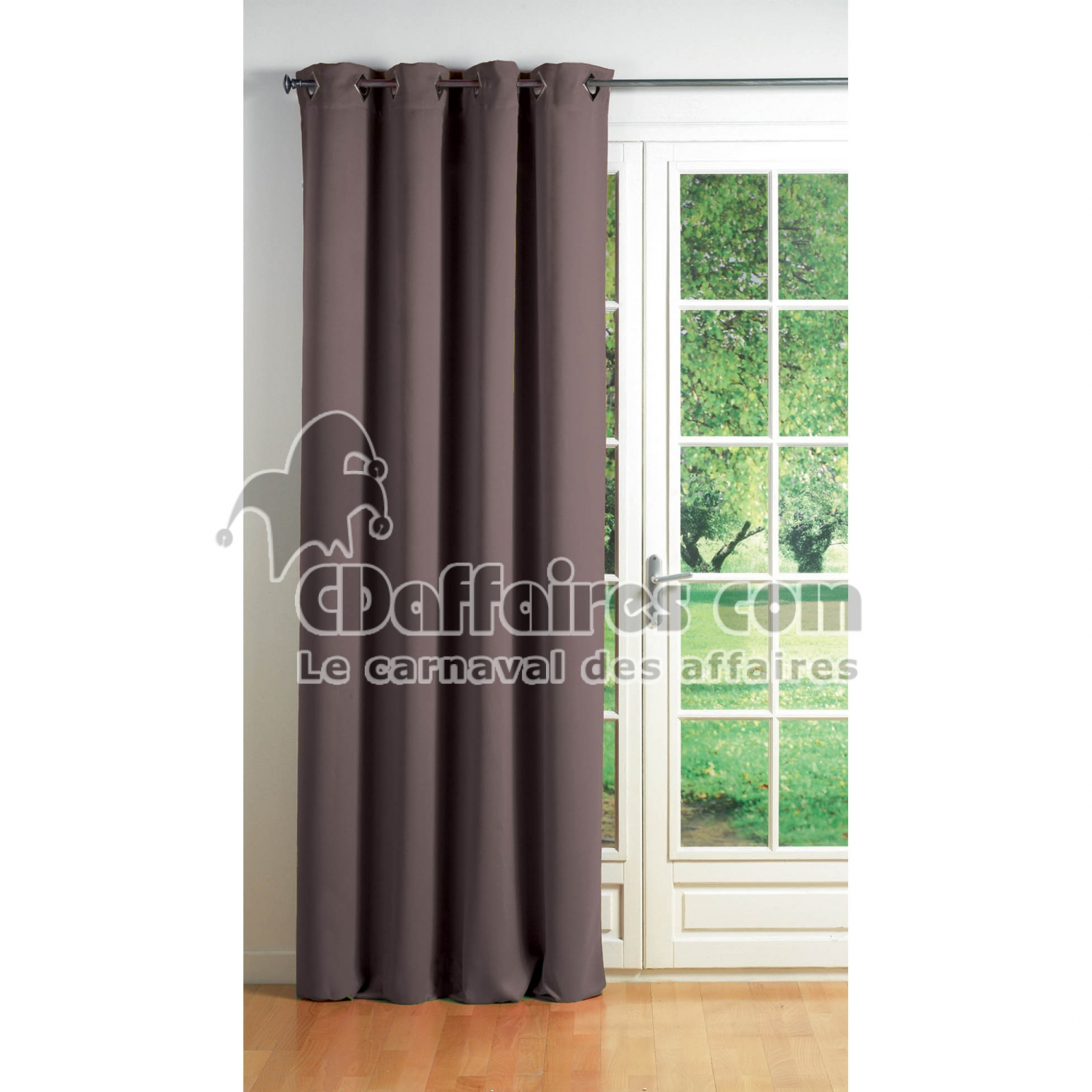 Rideau Taupe Opaque Rideau A Oeillets Carres 140 X 260 Cm Occultant Uni Cocoon Taupe Cdaffaires