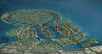 Construction Work on the New Artificial Island in Dubai Resumes