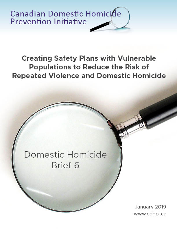 Creating Safety Plans with Vulnerable Populations to Reduce the Risk