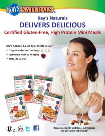 Kay's Naturals® Certified Gluten-Free, High Protein Mini Meals