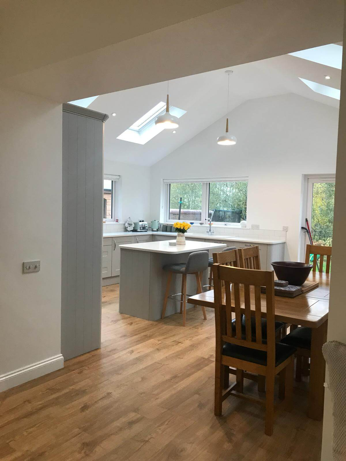 Kitchen Extensions With Velux Windows Cdj Watson Builders Based In Dunfermline Fife With 50 Years And