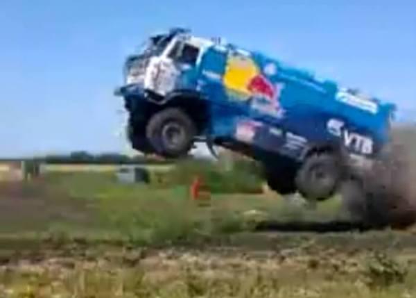 Russian Dakar Truck Gets Air