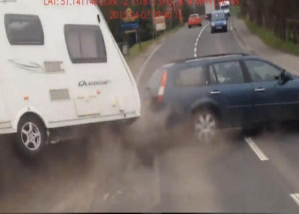 VIDEO: Impatient Driver Destroys RV