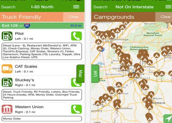 Truck Driver App: iExit