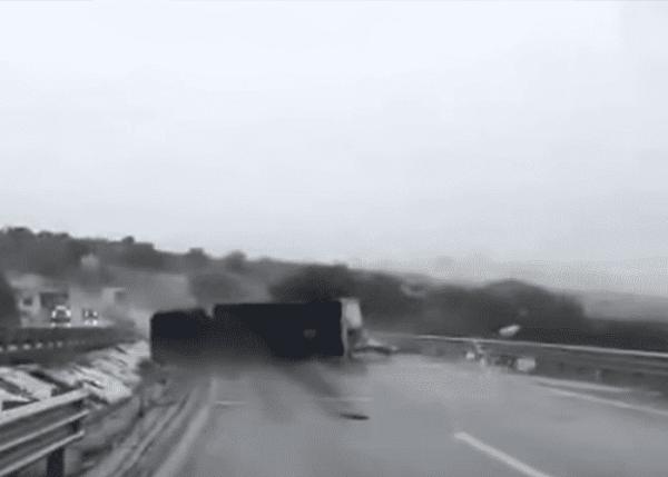 Hurricane Patricia Tosses Truck