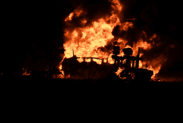 Three Truckers Rescue Fellow Driver From Tanker Crash And Fire