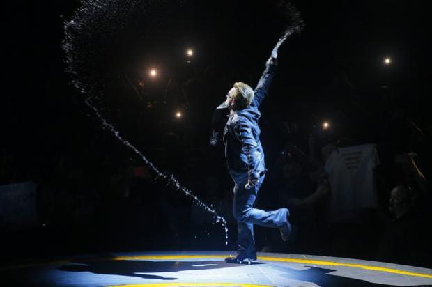 Picture - Kevin Scott Belfast , UK - NOVEMBER 18, U2 perform at Belfast's SSE Arena for the first time in almost a decade. Its also their first concert since cancelling their Paris gig following the tragic events that have unfolded , Northern Ireland on November 18 (Photo by Kevin Scott )
