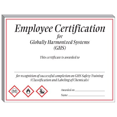 GHS Training Certificate - Employee Certification from Seton