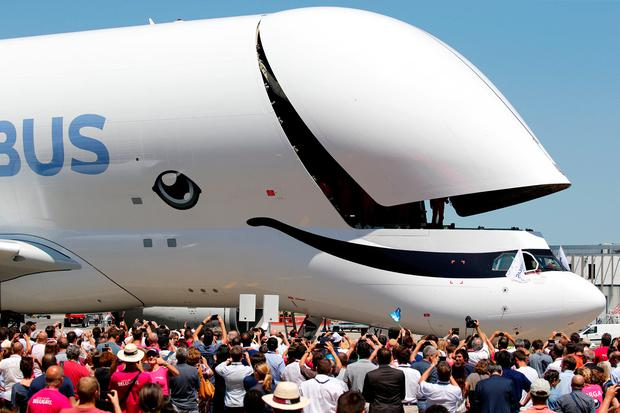 In pictures Airbus \u0027Beluga Whale\u0027 smiles as the cargo jet takes its