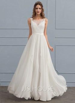 Small Of Chiffon Wedding Dress
