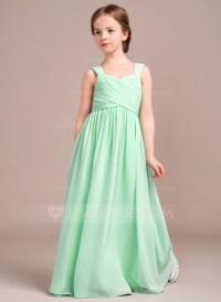 A-Line/Princess Sweetheart Floor-Length Chiffon Junior ...