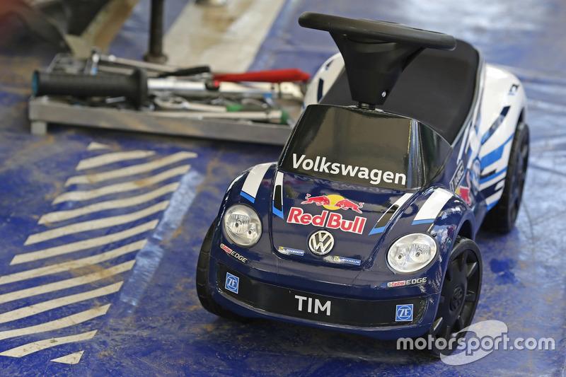 Bobby car for the son Tim of Sébastien Ogier, Volkswagen Polo WRC