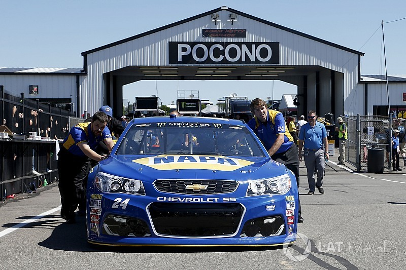 Chevrolet nowhere to be seen in Pocono battle
