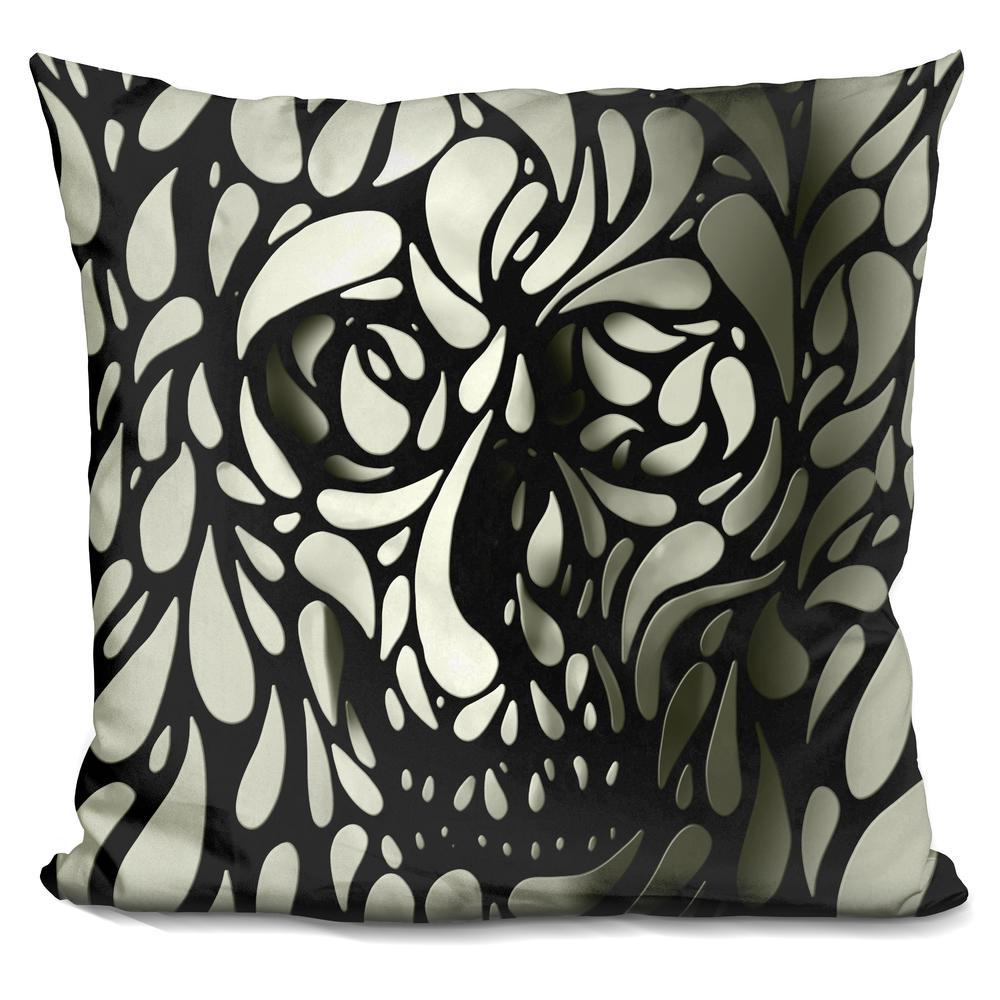 Ali Gulec 'Skull 4' Throw Pillow