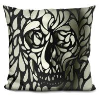 Ali Gulec 'Skull 4' Throw Pillow