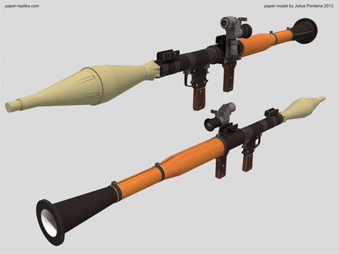 Life Size RPG-7 Launcher Paper Model