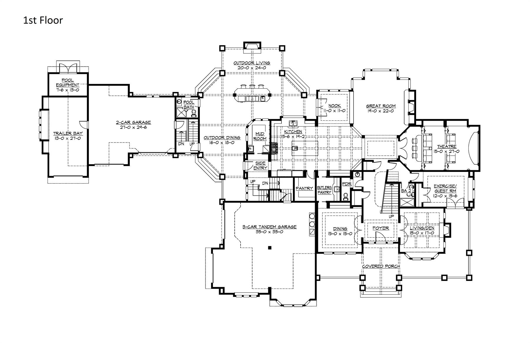 Tandem Garage House Plans Farm House House Plan With 7 Bedrooms And 8 5 Baths Plan 3237