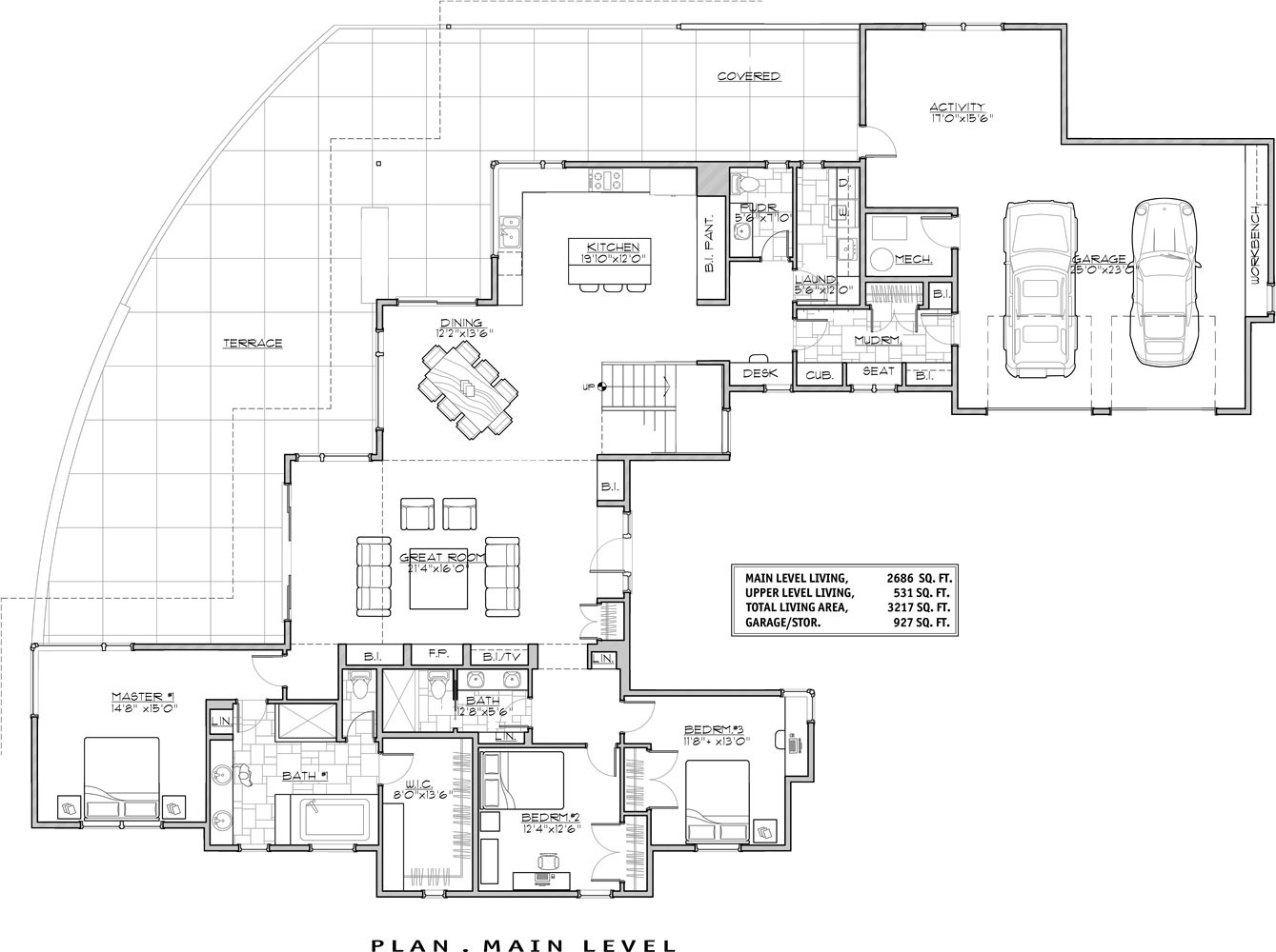 Modern Home Floorplans Contemporary House Plan With 3 Bedrooms And 3 5 Baths