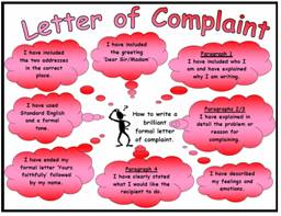 Formal Letter Example For Year 3 Cv Writing Prices Letter Of Complaint Success Criteria Poster Mat