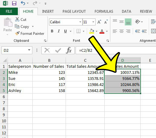 How to Remove Percentage in Excel 2013 - Live2Tech
