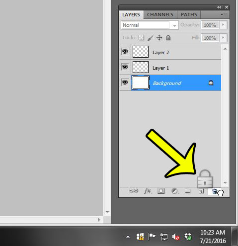 How to Delete the Background Layer in Photoshop CS5 - Live2Tech