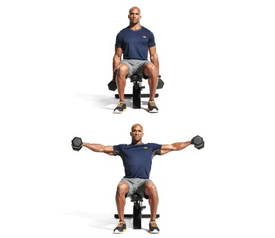 Seated dumbbell lateral raise Video - Watch Proper Form, Get Tips & More | Muscle & Fitness