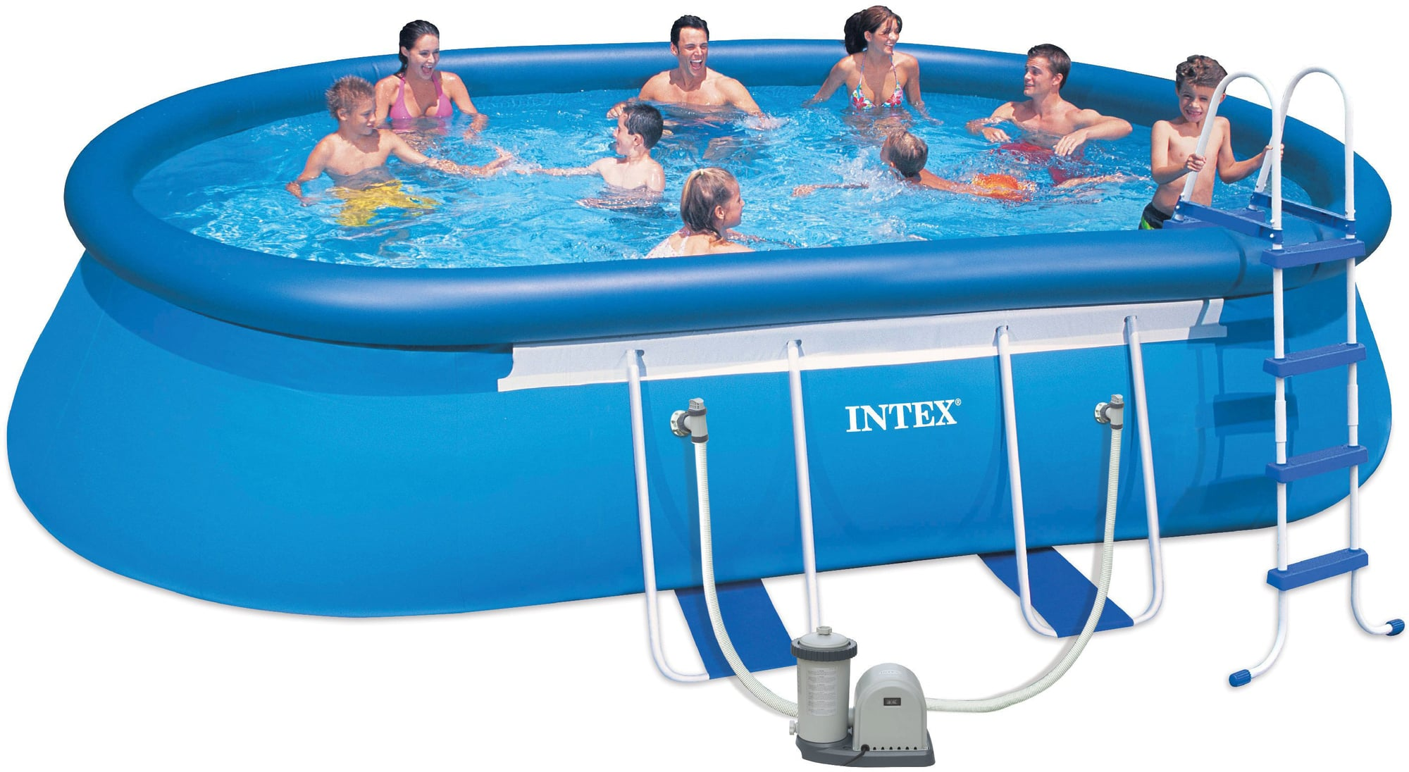 Pool Abdeckplane 366 Gummizug Frame Pool Oval 610 X 366 X 122 Cm Pools Shop