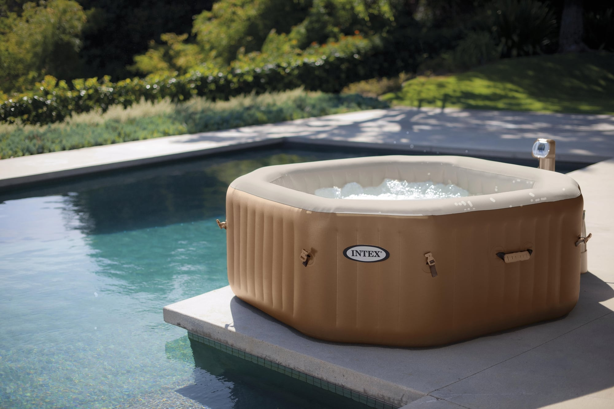 Poolpflege Aldi Whirlpool Pure Spa Bubble Octagonal Allespool Deutschland