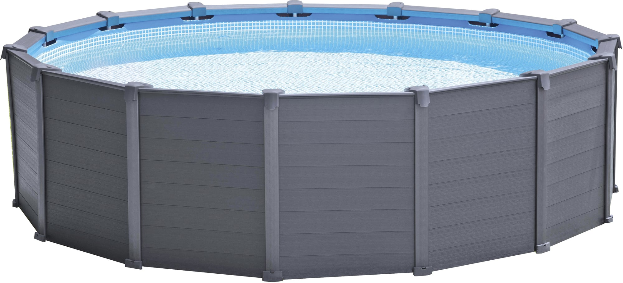 Pool Zubehör Shop Intex Frame Pool Graphit Ø 478 X 124 Cm