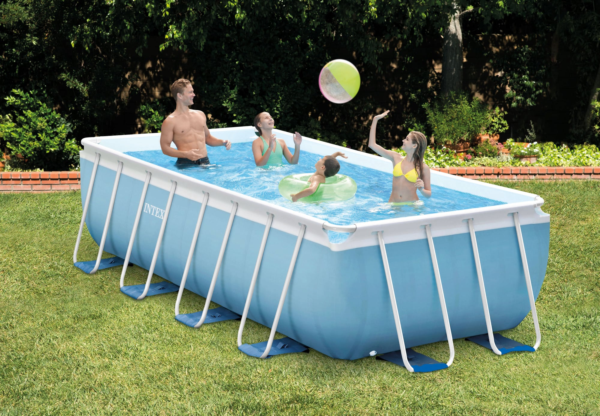 Abdeckplane Pool 220 X 150 Intex Frame Pool Prism 300 X 175 X 80 Cm