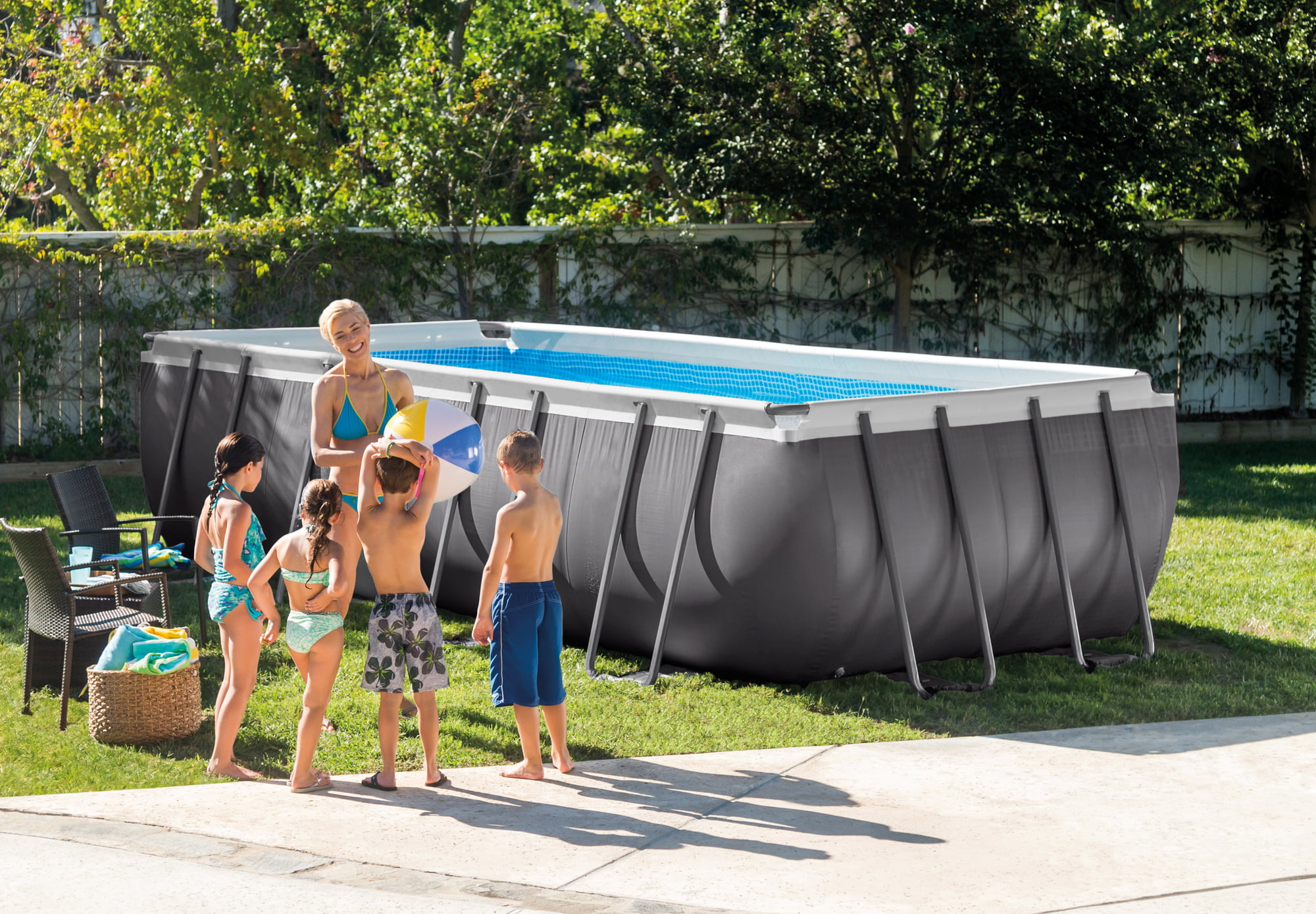 Solarplane Pool Rechteckig Intex Intex Frame Pool Ultra Quadra 549 X 274 X 132 Cm Pools Shop