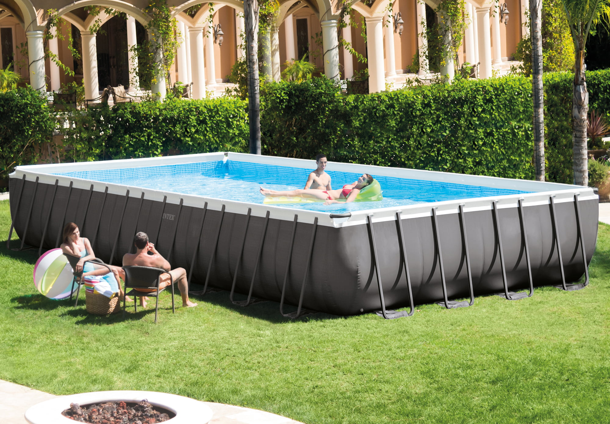Pool Filteranlage Amazon Intex Frame Pool Ultra Quadra 975 X 488 X 132 Cm 1 Set