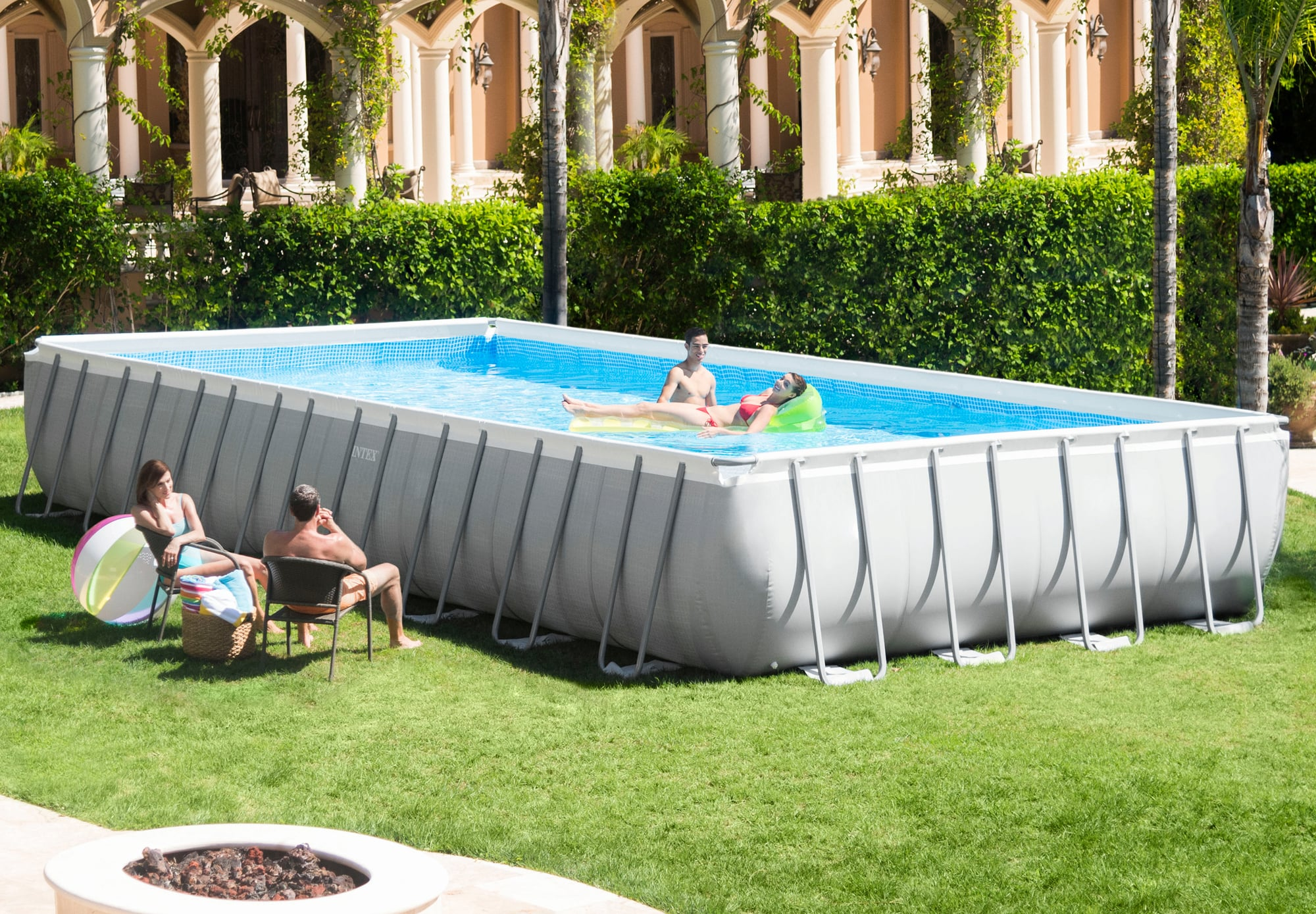 Abdeckplane Intex Pool 488 Intex Frame Pool Ultra Quadra 975 X 488 X 132 Cm, 1 Set