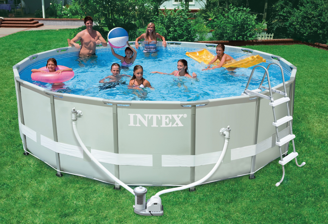 Pool Reinigungsset Intex Poolzubehr Intex Ft X Inch Intex Easy Set Inflatable Ring Above