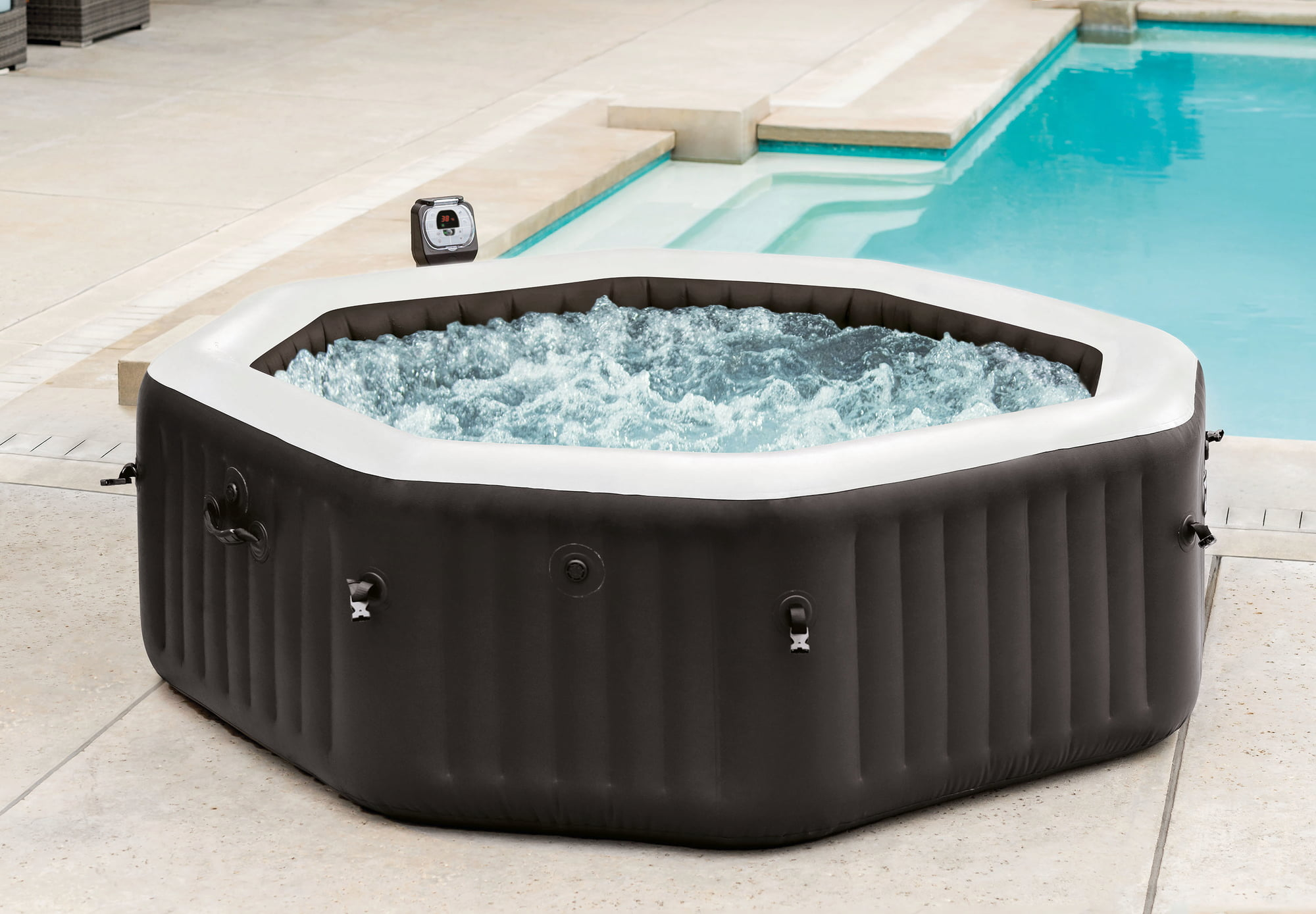 Wärmepumpe Pool Undicht Intex Whirlpool Pure Spa Bubble Jet Groß