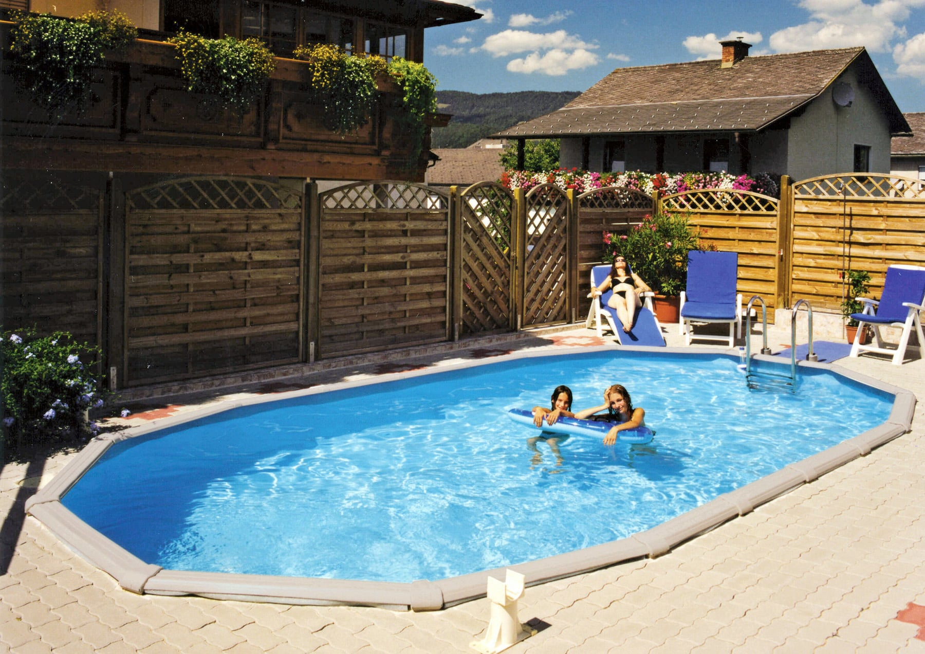 Pool Filteranlage Set Steinbach Grande Pool Set Oval 610 X 366 X 135 Cm