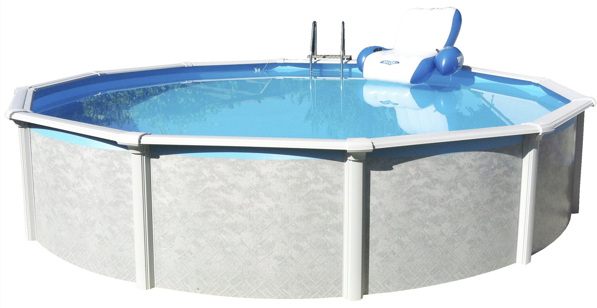 Pool Rund Steinoptik Pool Set Rund