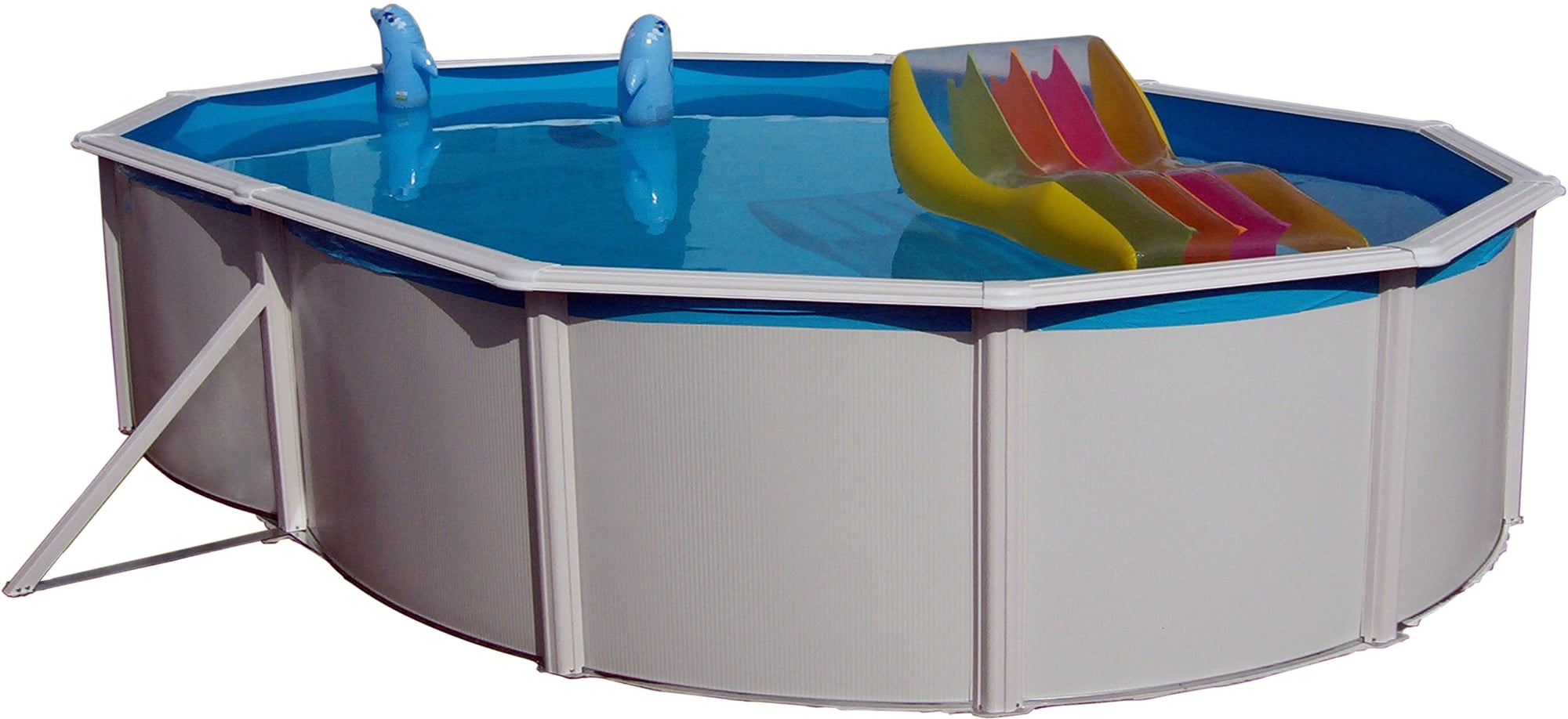 Pool Ohne Filteranlage Nuovo Pool Deluxe Oval 730 X 366 X 120 Cm